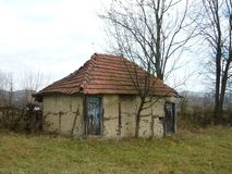 Stall. The old barn in the Bosnian mountains. Abandoned building Stock Images