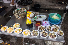 Stall with quail eggs Stock Photography