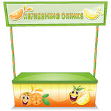 A stall for refreshing drinks Royalty Free Stock Photo