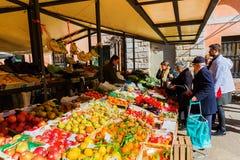 Stall on the Rialto Market in Venice, Italy Royalty Free Stock Photos