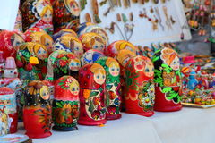 Stall of russian dolls Royalty Free Stock Photos