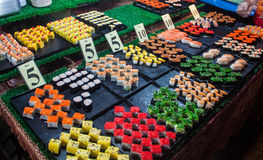 Stall with sushi Royalty Free Stock Photography