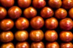 Stall with tomatoes in a grocery store Royalty Free Stock Photography