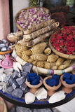 Stall with various stones in Marrakech Royalty Free Stock Photo