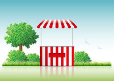 Stall. Vector illustration of a stall in nature stock illustration