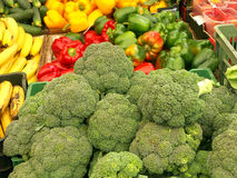 Stall with veggies. Vegetables at stall stock photo