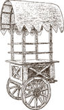 Stall on wheels vector illustration