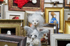 Free Stall With Handmade Dolls On Christmas Market In Vilnius Stock Photography - 78586682