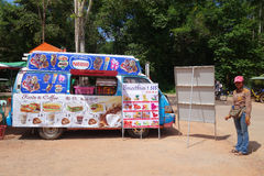 Stalla cambogiana dell'alimento sulla strada Fotografia Stock