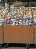 Stalla con i cereali sul mercato di strada Fotografie Stock Libere da Diritti