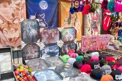 Stalla d'annata del mercato Fotografia Stock