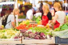 Stalla del mercato degli agricoltori Immagini Stock Libere da Diritti
