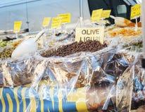 Stalla del mercato dell'alimento della fiera paesana Immagine di colore Immagini Stock Libere da Diritti