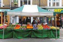 Stalla del mercato di strada Fotografia Stock