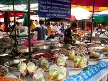 Stalla del mercato in Tailandia Fotografia Stock