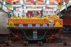 Stalla del succo d'arancia Immagine Stock