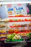 Stalla dell'alimento con alimento malese tipico Fotografia Stock Libera da Diritti