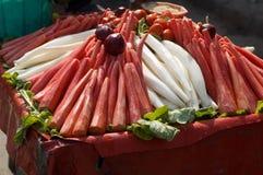 Stalla dell'alimento della via in India Fotografie Stock Libere da Diritti