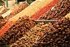 Stalla dell'alimento a Marrakesh Souk Fotografie Stock Libere da Diritti