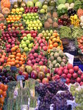 Stalla della frutta. immagini stock libere da diritti