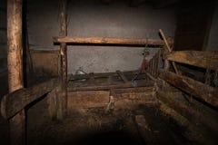 Stalla della mucca Fotografie Stock