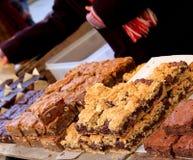 Stalla della torta in un servizio di natale Fotografie Stock
