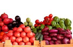 Stalla della verdura fresca isolata su bianco Immagine Stock Libera da Diritti