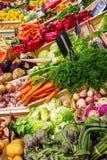 Stalla di un mercato degli agricoltori di Provencal Fotografie Stock Libere da Diritti