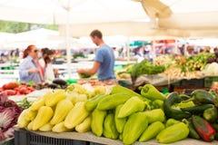 Stalla di verdure del mercato Immagini Stock