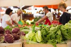 Stalla di verdure del mercato Fotografie Stock Libere da Diritti