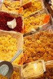 Stalla francese del mercato di frutta candita Fotografia Stock Libera da Diritti