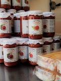 Stalla italiana dell'alimento al mercato del ` s dell'agricoltore Immagini Stock