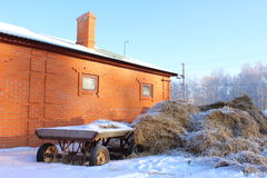 Stalla nell'inverno Fotografie Stock Libere da Diritti