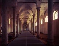 Stalle antiche, progettate da Leonardo da Vinci, in Vigevano, AIS immagine stock libera da diritti