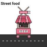 Stalle avec la nourriture japonaise Rolls, sushi Image libre de droits