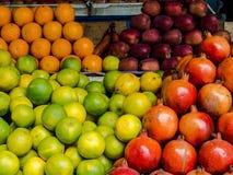 Stalle de fruit dans l'Inde Photos stock