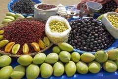 Stalle de fruit de plage de Mumbai Photographie stock