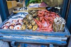 Stalle de fruits de mer Image libre de droits