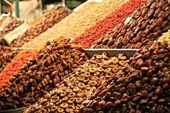 Stalle de nourriture à Marrakech Souk Photos libres de droits