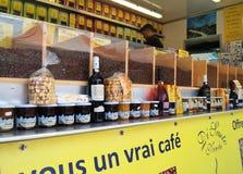Stalle de nourriture de café de spécialité Image stock