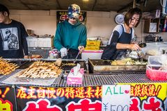 Stalle de nourriture de rue d'Apanese image libre de droits