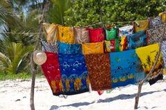 Stalle de plage sur la plage de Diani, Kenya Images libres de droits