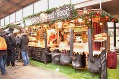 Stalle del mercato di Natale Fotografia Stock Libera da Diritti