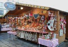 Stalle del mercato di Natale, Vienna Fotografia Stock