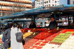 Stalle du marché Photo libre de droits