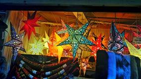 Stalle du marché de Noël Photo stock