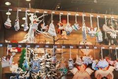 Stalle du marché de Noël Images libres de droits