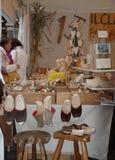 Stalle en bois de métier, Friuli photos libres de droits