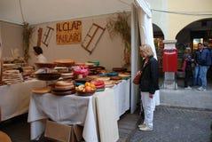 Stalle en bois de métier, Udine image libre de droits