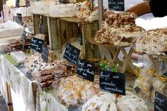 Stalle française du marché Image libre de droits